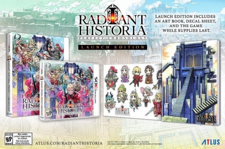 Radiant Historia Perfect Chronology edicion de lanzamiento