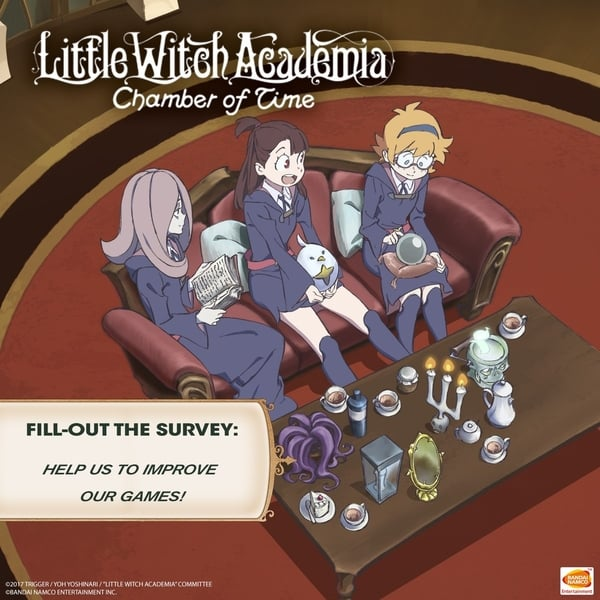 Bandai Namco quiere nuestra opinión sobre Little Witch Academia: Chamber of Time